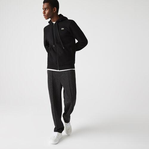 Men's Lacoste Sport Hooded Lightweight Bi-material Sweatshirt