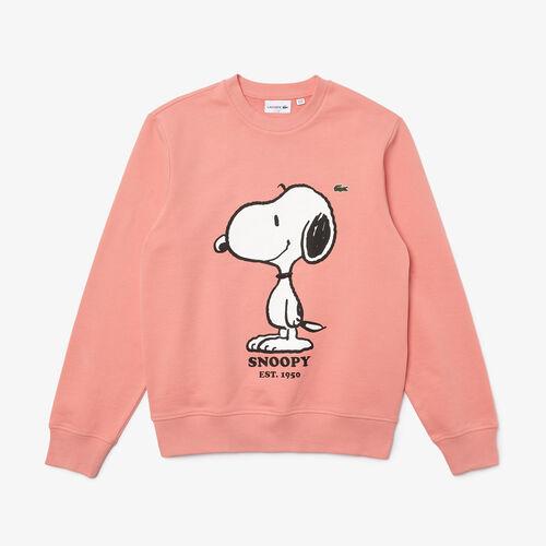 Unisex Lacoste X Peanuts Crew Neck Organic Cotton Sweatshirt