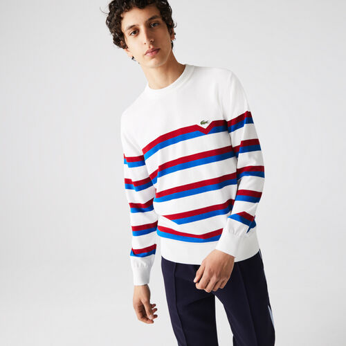 Men's Made In France Striped Organic Cotton Sweater
