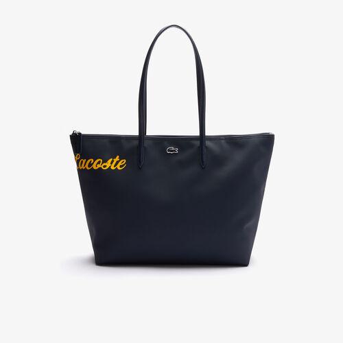 Women's L.12.12 Branded Piqué Large Canvas Shopper Bag