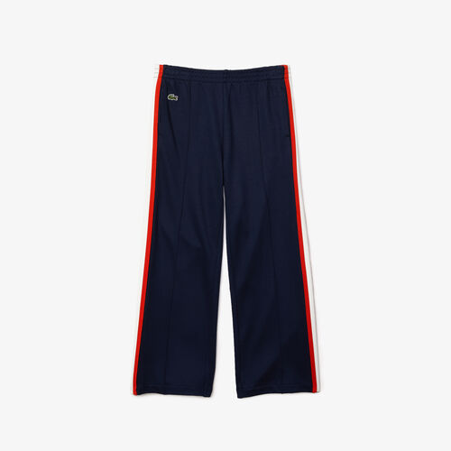Girls' Contrast Bands Stretch Tracksuit Pants
