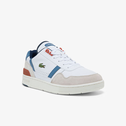 Men's T-clip Leather And Synthetic Colour-pop Sneakers