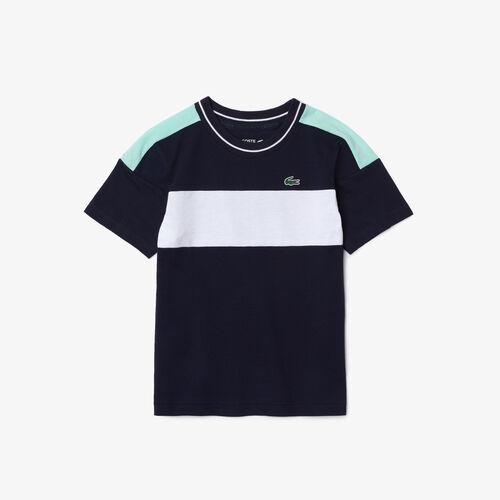 Boys' Lacoste Sport Colorblock Ultra-lightweight Cotton T-shirt