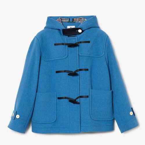 Women's Lacoste L!ve Short Wool Blend Duffel Coat