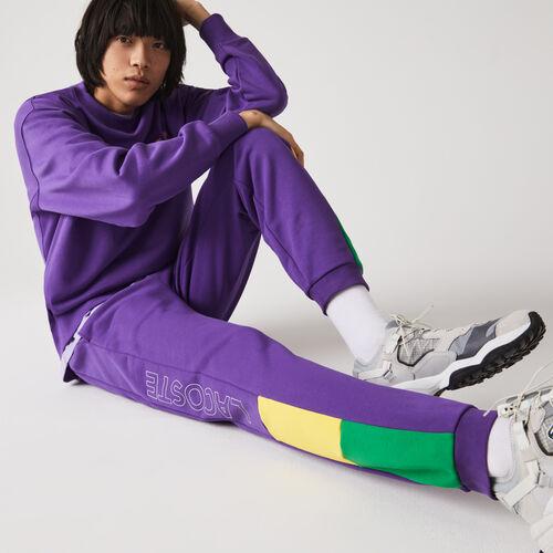 Men's Branded Colorblock Fleece Jogging Pants