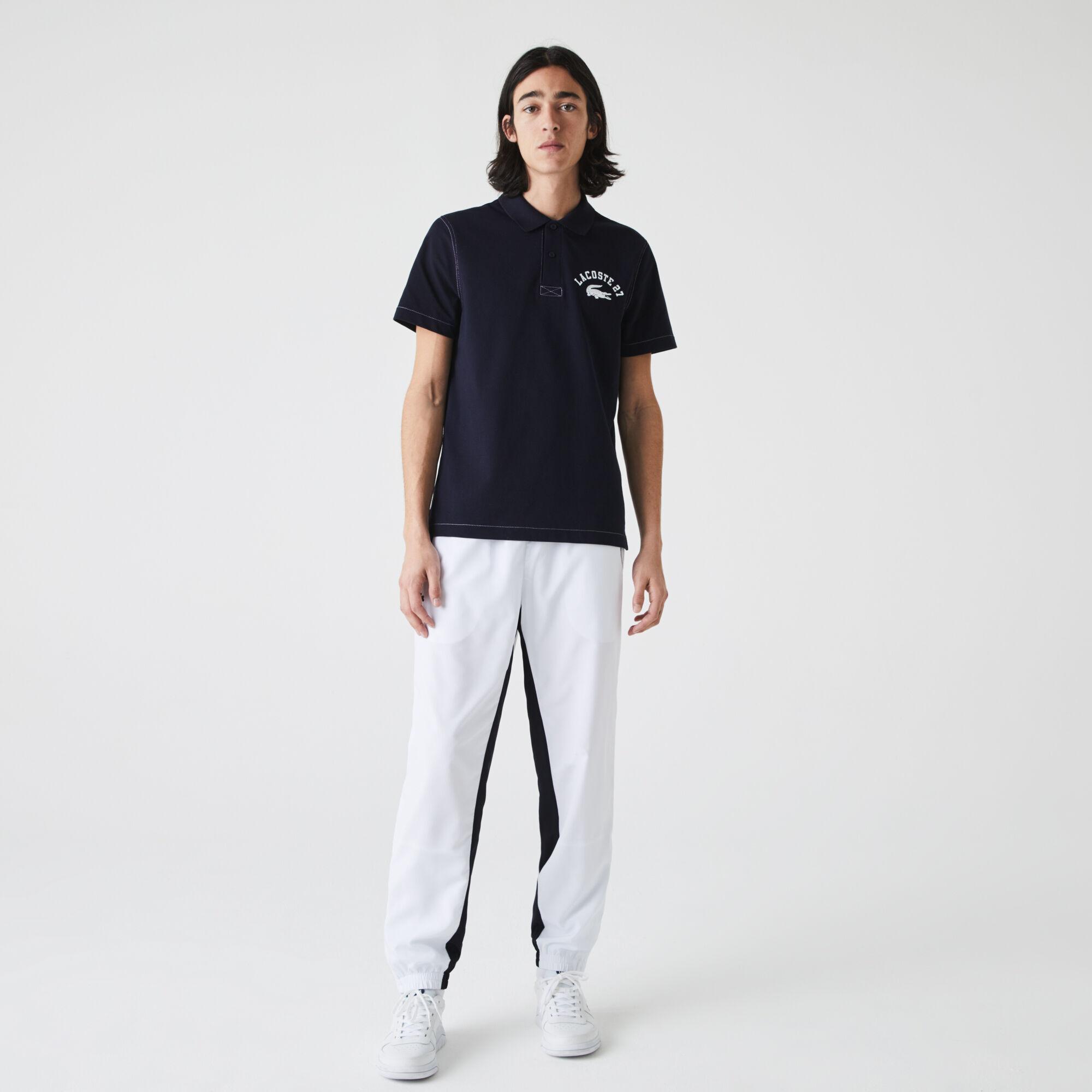 Men's Lacoste Regular Fit Lettered Ultra-Light Knit Polo Shirt