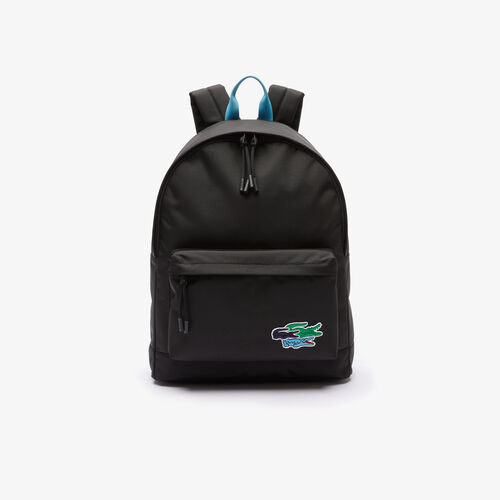 Men's Colored Crocodiles Canvas Backpack