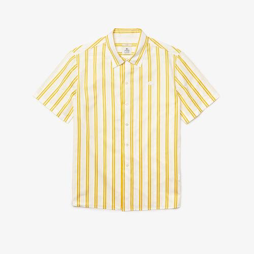 Unisex Lacoste Live Striped Satiny Shirt