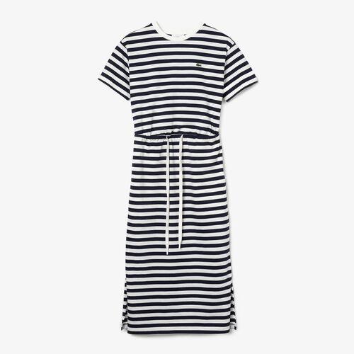 Women's Long Fitted Cotton T-shirt Dress