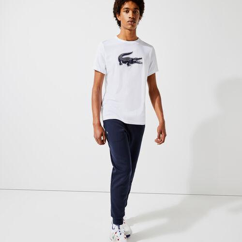 Men's Lacoste Sport 3d Print Crocodile Breathable Jersey T-shirt