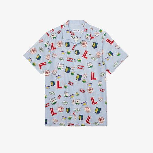 Men's Hawaiian Print Cotton Shirt