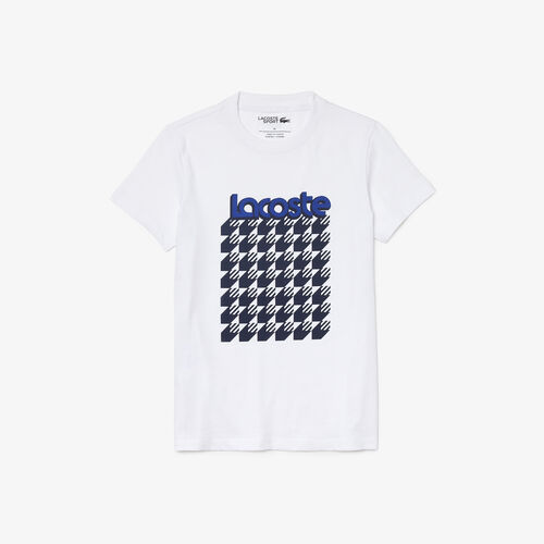Women's Lacoste Sport Breathable Houndstooth Patterned T-shirt