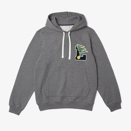 Men's Pennants L Badge Hooded Cotton Fleece Sweatshirt
