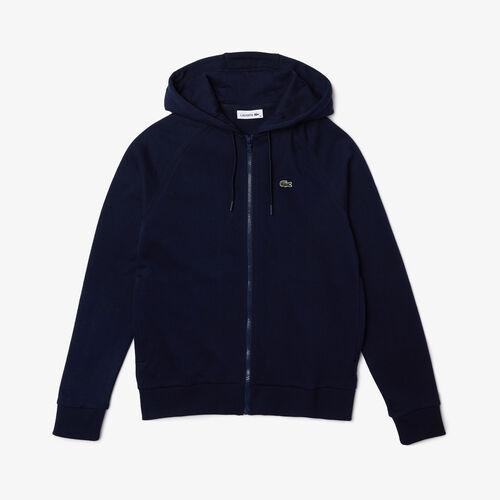 Women's Hooded Cotton Blend Fleece Zip Sweatshirt