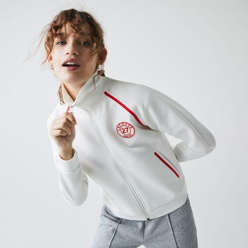 Women's Stand-up Collar Vintage Style Zip Sweatshirt