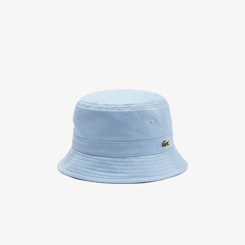 Vintage Lacoste Badge Cotton Bucket Hat
