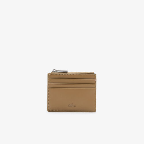 Men's Fitzgerald Zippered Smooth Leather Credit Card Holder