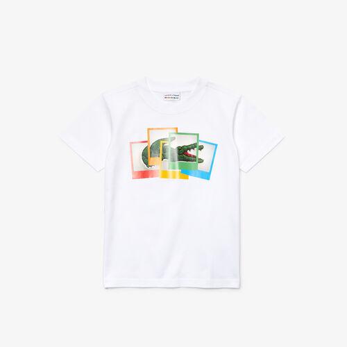 Boys' Polaroid Collaboration Print Cotton T-shirt