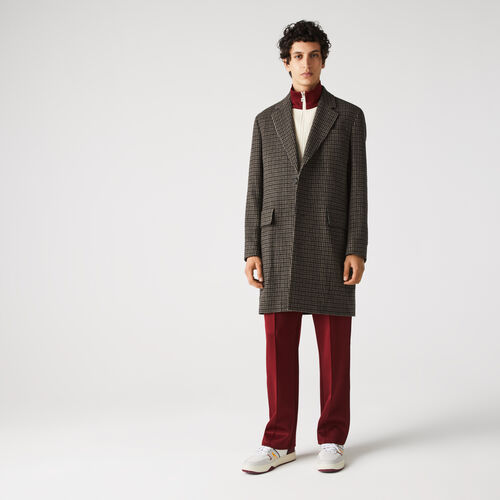 Men's Checked Responsible Wool Chesterfield Jacket