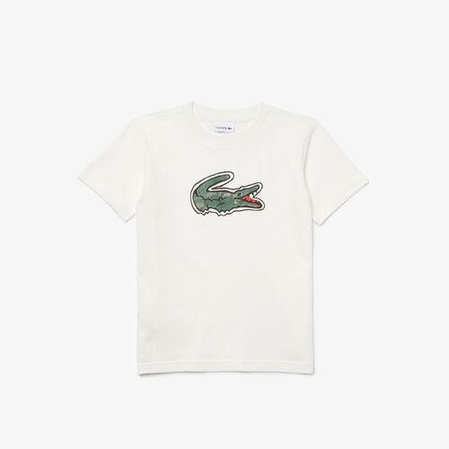 Boys' Crocodile Print Cotton T-shirt