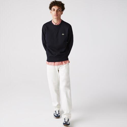 Unisex Crew Neck Organic Cotton Fleece Sweatshirt