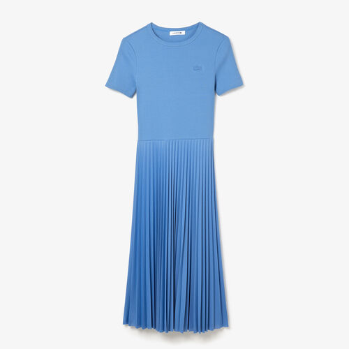 Women's Mid-length Textured Pleated Dress