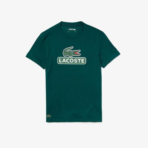 Men's Lacoste Sport Print Logo Breathable T-shirt