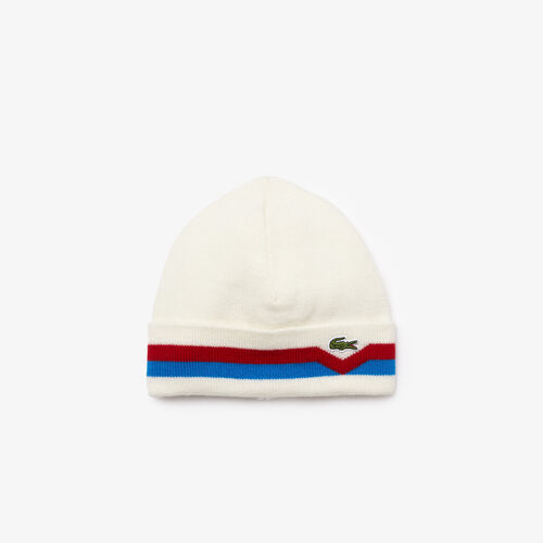 Men's Made In France Striped Turned Edge Wool Beanie