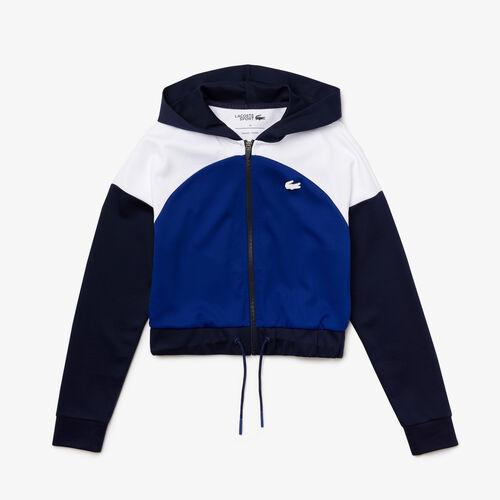Women's Lacoste Sport Hooded Organic Cotton Zip Sweatshirt