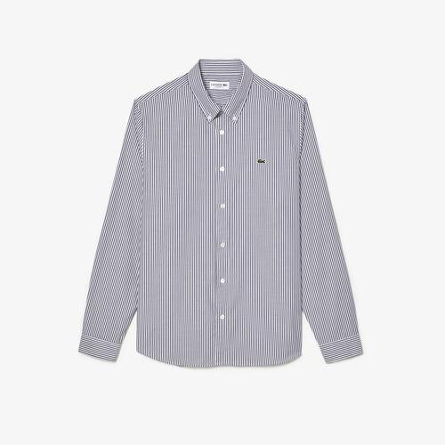 Men's Regular Fit Striped Cotton Shirt