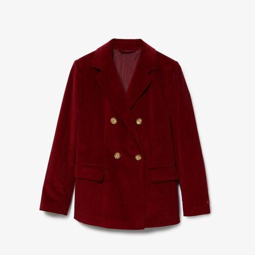 Women's Double-breasted Corduroy Jacket