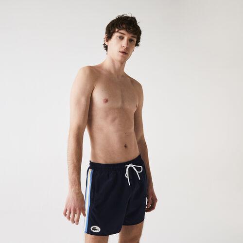 Men's Heritage Contrast Bands Short Swimming Trunks