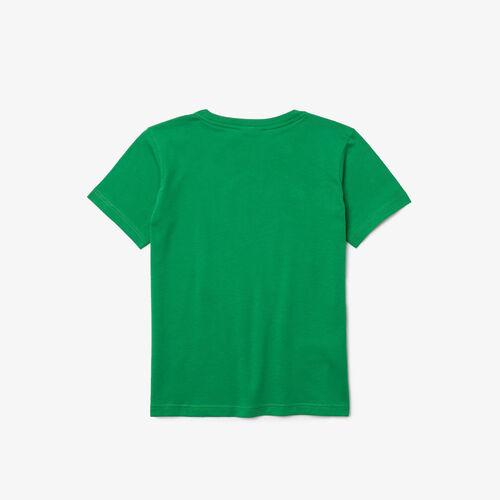 Kids' Crew Neck Cotton Jersey T-shirt