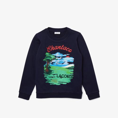 Boys' Chantaco Print Fleece Sweatshirt