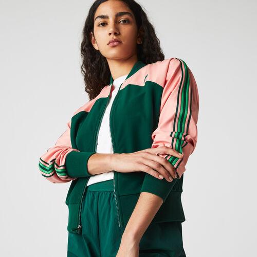 Women's Lacoste Sport Loose Fit Colorblock Zip Teddy Jacket