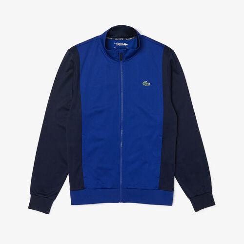 Men's Lacoste Sport Resistant Bicolor Piqué Zip Sweatshirt
