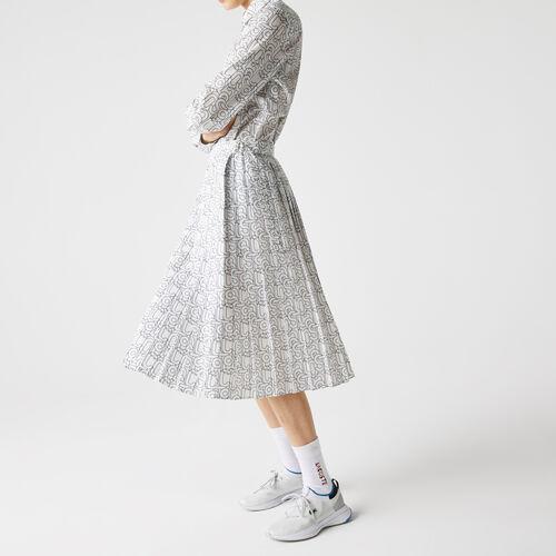Women's Lacoste Patterned Flowy Mid-length Pleated Skirt
