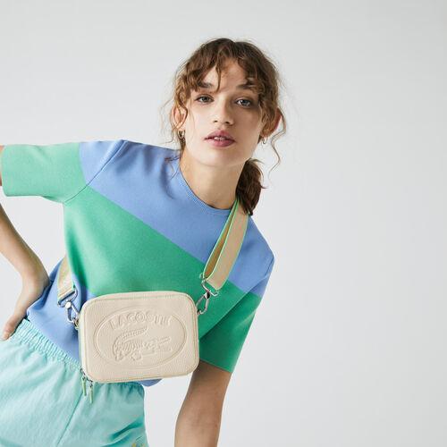 Women's Croco Crew Detachable Shoulder Strap Grained Leather Bag
