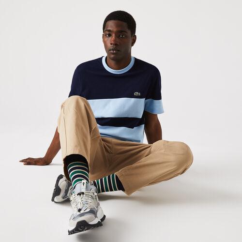 Men's Heritage Crew Neck Colorblock Cotton Piqué T-shirt