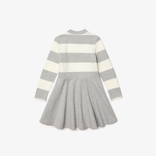 Girls' Striped Knit Turtleneck Sweater