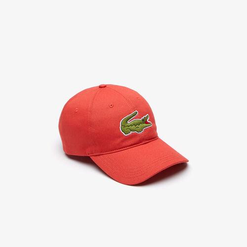 Men's Contrast Strap And Oversized Crocodile Cotton Cap
