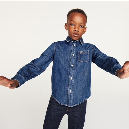 Boys' Organic Cotton Regular Fit Jean Shirt