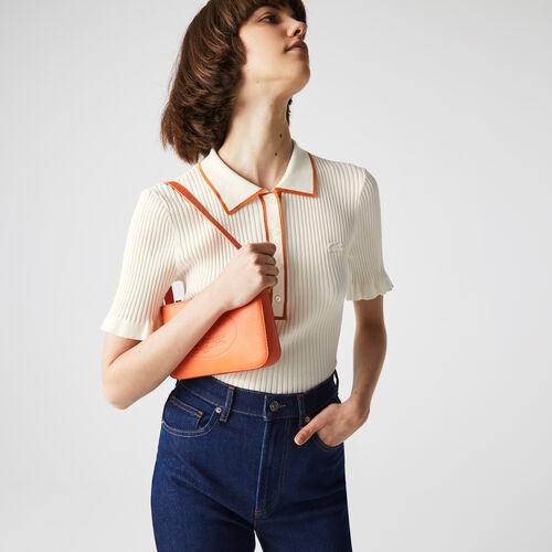Women's Flounced Sleeve Knit Polo