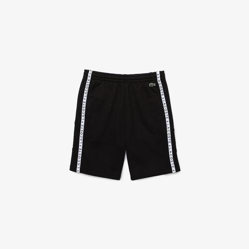 Men's Lacoste Lettered Bands Fleece Bermuda Shorts