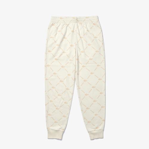 Unisex Lacoste Live Print Fleece Tracksuit Pants