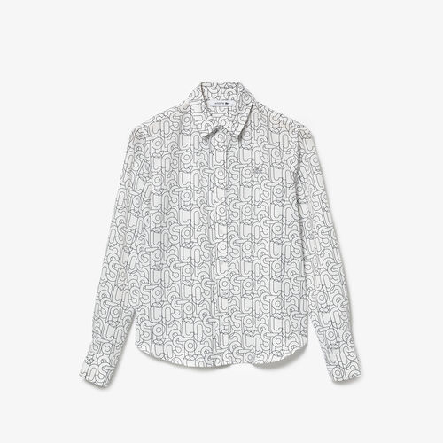 Women's Lacoste Print Relaxed Fit Flowy Shirt