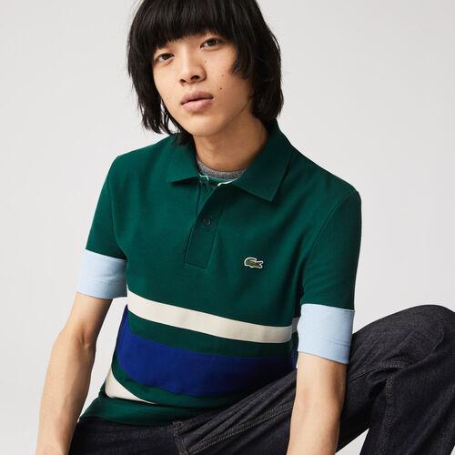 Men's Heritage Slim Fit Colorblock Cotton Piqué Polo