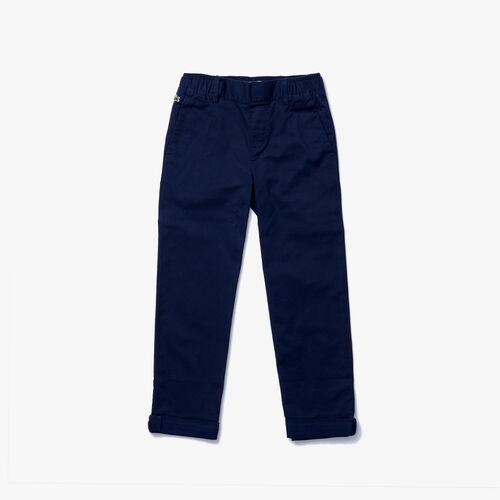 Boys' Comfortable Lightweight Cotton Chino Pants