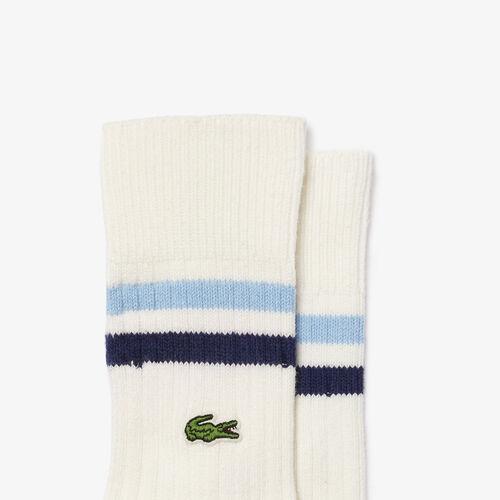 Men's Striped Ankle Stretch Cotton Socks
