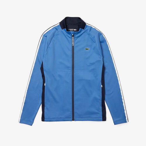 Men's Lacoste Sport Ergonomic Polar Fleece Zip Golf Sweatshirt